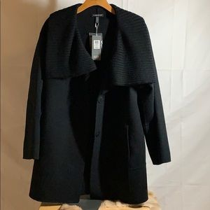 BRAND NEW: Eileen Fisher Funnel Cocoon Coat- pm